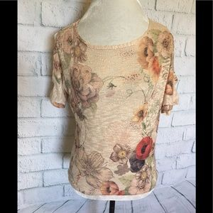NWT Floral Printed summer sweater